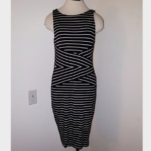 Philosophy Striped Bodycon Lined Dress